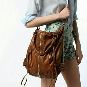 Urban outfitters zip front boho Moto bucket bag